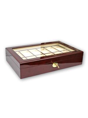 Koka kaste pulksteņu kolekcionēšanai 260