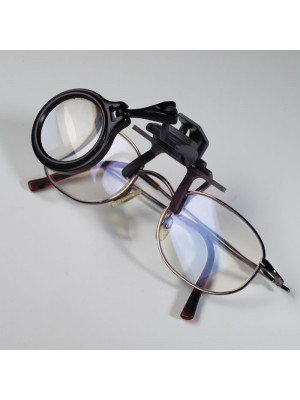 Clip-on Magnifier for glasses, 5x magnification 326886