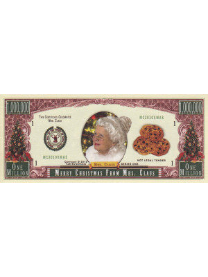 Piemiņas banknote Merry Christmas From Mrs. Claus