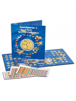 Euro coin album PRESSO, Euro Collection for 2-Euro coins, 302574