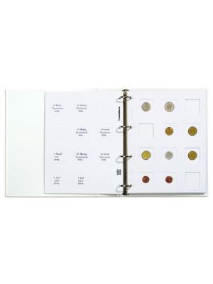 Lielisks risinājums monētu uzglabāšanai. Ja Jūs lietojat holderus, lai aizsargātu monētas no apkārtējās vides ietekmes, tad šis albums kļūs par teicam palīgu kolekcijas sakārtošanai un prezentācijai. Albuma komplektā iekļautas 5 melnas Matrix lapas līdz p