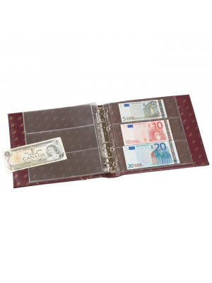 NUMIS Banknote Album with slipcase, incl. 20 pockets, blue, 317859