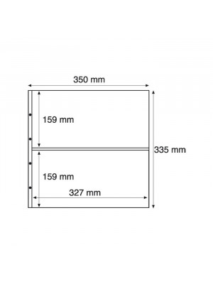 MAX7C plastic pockets for MAXIMUM, divided in two, clear, 325009