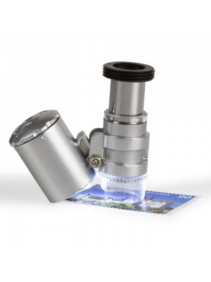 Pocket microscope MINISCOPE with LED and UV light,  20x magnification, 347992