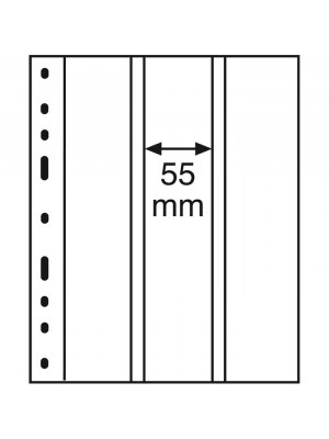 OPTIMA plastic pockets 3-way division, vertical, clear, 311363
