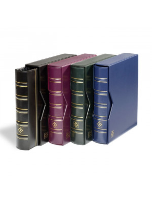 OPTIMA Coin album with 10 different pockets, red, 331276