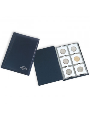 Coin Wallet with 10 Coin Sheets each for 6 cardboard holders, blue, 325026