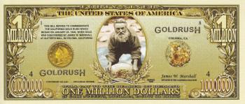 """Miljons dolāru banknote """"Zelta drudzis"""""""