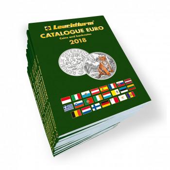 Katalogs Eiro monētas un banknotes 2018 angļu valodā