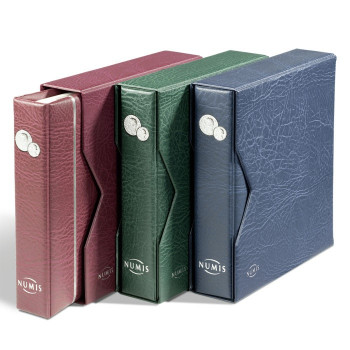 Monētu albums NUMIS, ar ietvaru un 5 lapām, zils, 338787