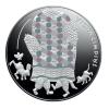 """Sudraba kolekcijas Pasaku monēta III. """"Vecīša cimdiņš"""", 5 Eiro"""