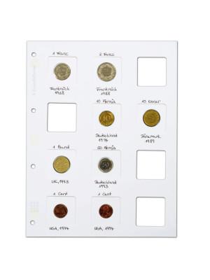 Balta MATRIX Lapa monētu ieliktņiem, 345707