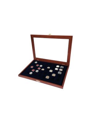 Eleganta koka vitrīna monētu uzglabāšanai, SAFE 5903