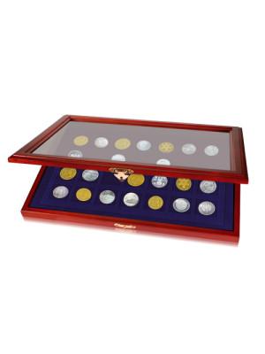 Eleganta Koka monētu vitrīna 5904