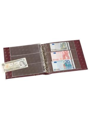 NUMIS banknošu albums, zils, ar 20 lapām, 317859