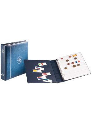 NUMIS albums eiro monētām, bez ietvara, zils, 329334