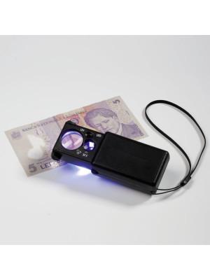 LED izvelkams palielināmais stikls, 10x un 30x palielinājums 338880