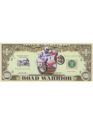 """Miljons dolāru banknote motociklistiem """"ROAD WARRIOR"""""""