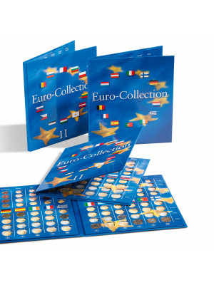Two EU Euro Coin Collection albums