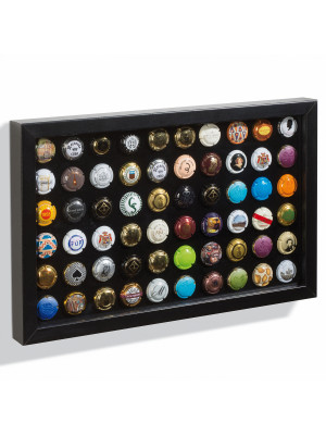 FINESTRA P60 presentation frame for 60 champagne caps/bottle caps, black, 340699