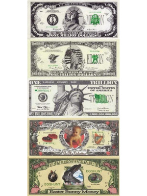 Million dollar banknotes set 5 in 1 - New Dollar set