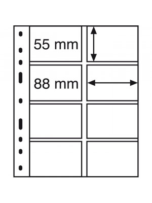 OPTIMA plastic pockets 4-way division, vertical, clear, 328118