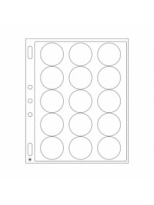 Plastic sheets ENCAP for 15 coins with diameter between 44 and 45 mm, 346717
