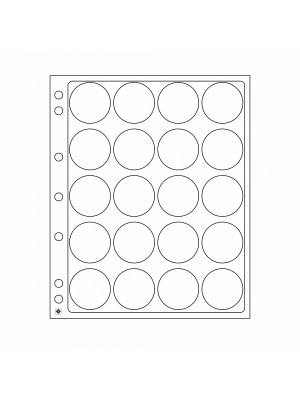 Plastic sheets ENCAP for 20 coins with diameter between 39 and 41 mm, 343216