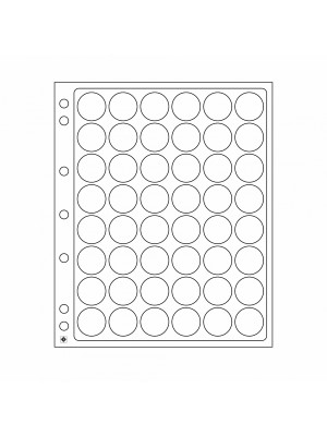 Plastic sheets ENCAP for 48 coins with diameter between 23.5 and 26 mm, 343210