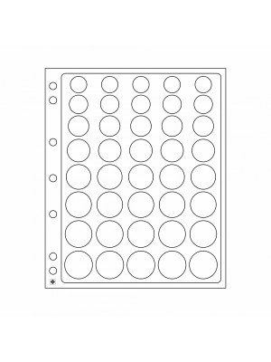 Plastic sheets ENCAP for 5-Euro coin sets in capsules, 327928
