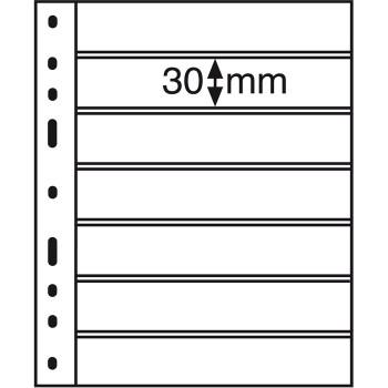 OPTIMA Plastic Pockets, 7-way division, black 323995
