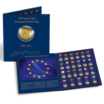 "Presso 2 Euro coin album ""30 years of the EU flag"", 347757"