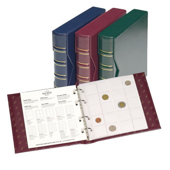 NUMIS Classic Album with slipcase incl. 5 different pockets, red 327836
