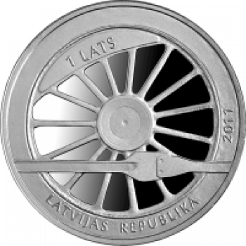 "Silver coin ""Railway in Latvia 1860"""