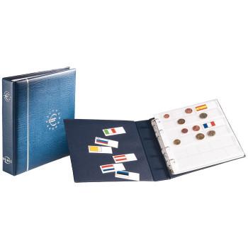 Blue NUMIS Euro coin album with slipcase, 338772