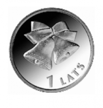 "Coin ""Christmas bells"", 1 Lats."