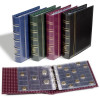 OPTIMA Coin Album without pockets and slipcase, blue, 329644