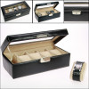 Black imitation leather box for watches, 264