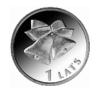 "Coin ""Christmas bells"", 1 Lats."