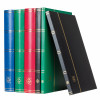 Stockbook DIN A4, 16 black pages, non-padded cover, blue, 335982