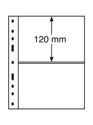 OPTIMA Plastic Pockets, 2-way division, black, 322646