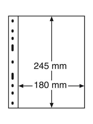 OPTIMA Plastic Pockets, 1-way division, black, 326667