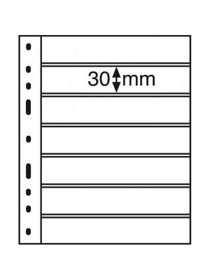 OPTIMA Plastic Pockets, 7-way division, black 323995