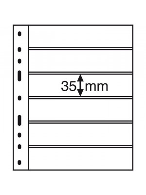 OPTIMA Plastic Pockets, 6-way division, black, 316995