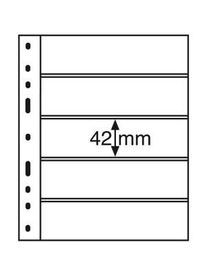 OPTIMA Plastic Pockets, 5-way division, black, 333229