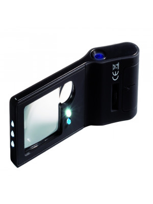Pocket Magnifier 6 in 1 with 10 x magnification (+2,5x) and light, 344177