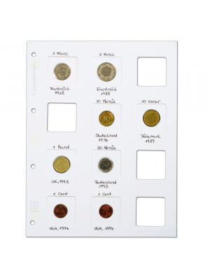 White MATRIX coin holder sheet, 345707