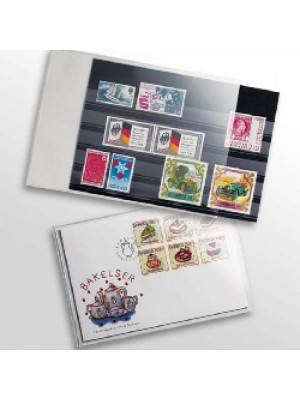 Clear protective sheets for stamps and picture postcards, for postcards up to 150x107 mm, 313007