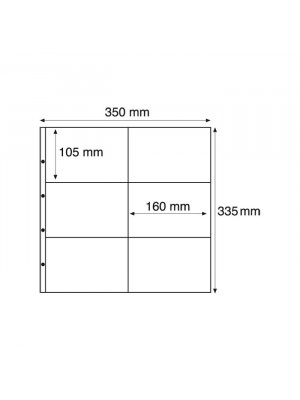 MAX2C plastic pockets for MAXIMUM, for New postcards, Landscape, white, 302225