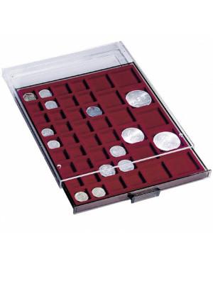 Monētu atvilkne ar 12 kvadrātveida laukiem monētām ar diametru līdz 64 mm